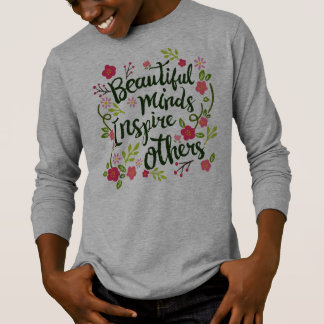 Camiseta As mentes bonitas inspiram outro para citar a