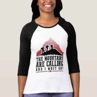 Camiseta As montanhas estão chamando e eu devo ir