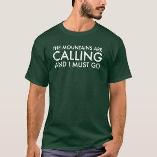 """Camiseta """"As montanhas estão chamando e eu devo ir"""" t-shirt"""