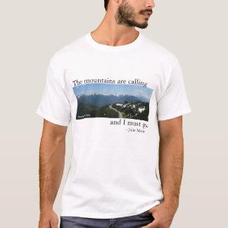 Camiseta As montanhas estão chamando - luz