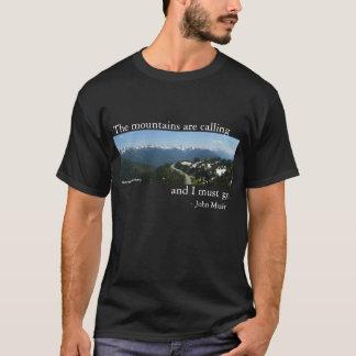 Camiseta As montanhas estão chamando - obscuridade