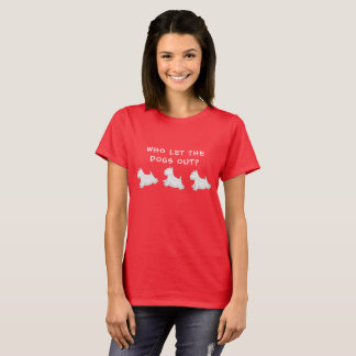 Camiseta As montanhas Terrier branco ocidentais ilustraram