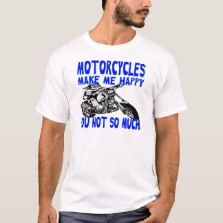 Camiseta As motocicletas fazem-no me feliz não tanto 2