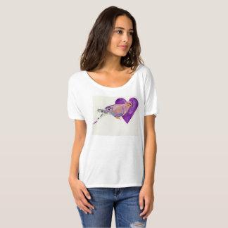 Camiseta As mulheres abrem o T do decote, branco da cor