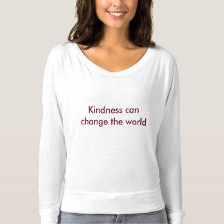 Camiseta As mulheres afrouxam o t-shirt longo da luva
