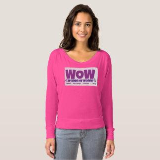 Camiseta As mulheres das palavras sleeved por muito tempo o