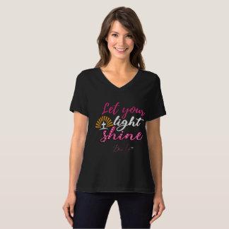 Camiseta As mulheres deixaram seu t-shirt leve do V-Pescoço
