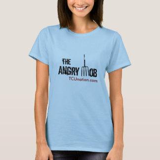 Camiseta As mulheres irritadas da parte dianteira da