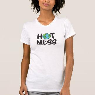Camiseta As mulheres quentes da confusão da terra multam o