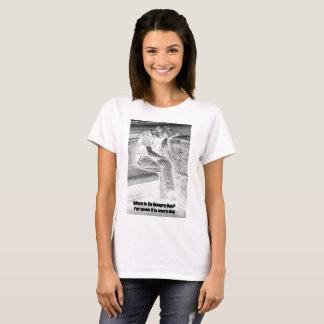 Camiseta As mulheres vão t-shirt com fome do dia