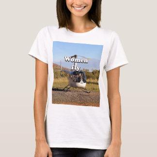 Camiseta As mulheres voam: Helicóptero 2 (brancos)