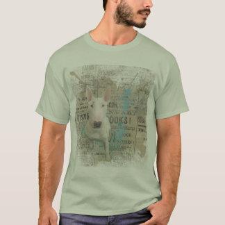 Camiseta As notícias de pedra de bull terrier da cor