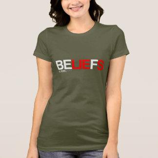Camiseta As opiniões são mentiras