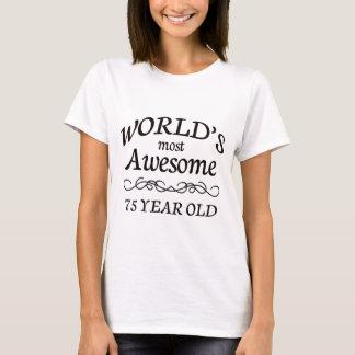 Camiseta As pessoas de 75 anos as mais impressionantes do