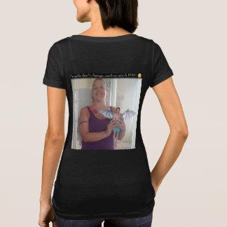 Camiseta As pessoas não mudam, não disseram nenhum t-shirt