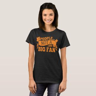 Camiseta As pessoas não um fã grande Introverts o t-shirt