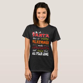 Camiseta As policiais fáceis do papai noel fazem o T