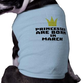 Camiseta As princesas são em março Z1szr nascidos