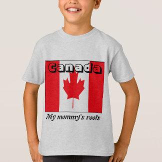 Camiseta As raizes Canadá da minha mamã caçoam t-shirt