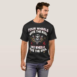 Camiseta As rodas de Foue movem a cópia de corpo