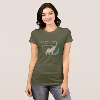 Camiseta As senhoras cabidas tee com logotipo