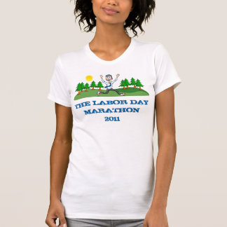 Camiseta As senhoras da maratona do Dia do Trabalhador