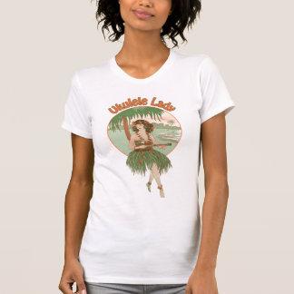 Camiseta As senhoras da senhora #1 do Ukulele iluminam o