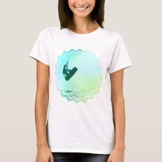 Camiseta As senhoras do ar de Kiteboarding couberam o
