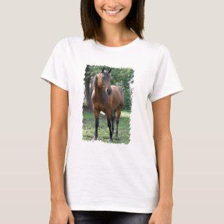 Camiseta As senhoras do cavalo do puro-sangue da baía
