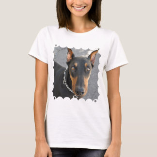 Camiseta As senhoras do Pinscher do Doberman couberam o