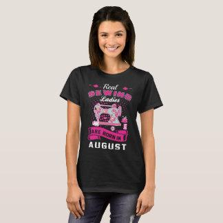 Camiseta As senhoras Sewing reais são em agosto Tshirt