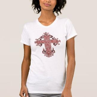 Camiseta As senhoras transversais de Borgonha da arte do