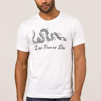 Camiseta As séries da liberdade - livre vivo ou morrem