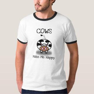 Camiseta As vacas fazem-me feliz