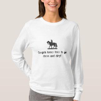 Camiseta As vaqueiras sabem obter para baixo e… -