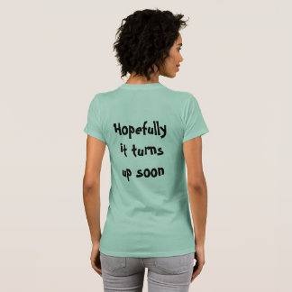 Camiseta Às vezes eu penso I'v perdido lhe!. voltas acima