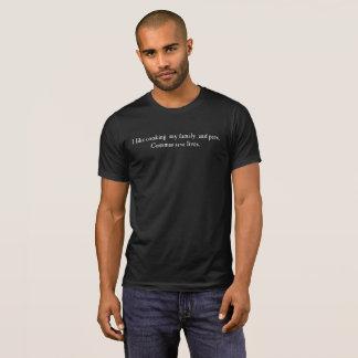 Camiseta As vírgulas salvar vidas! (Obscuridade)