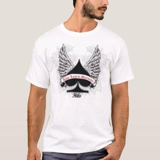 Camiseta Asas do branco da pá do póquer