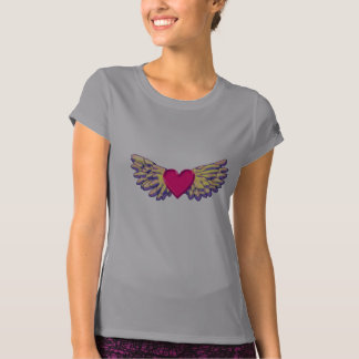 Camiseta asas do coração