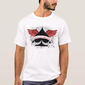 Camiseta Asas do vermelho da pá do póquer