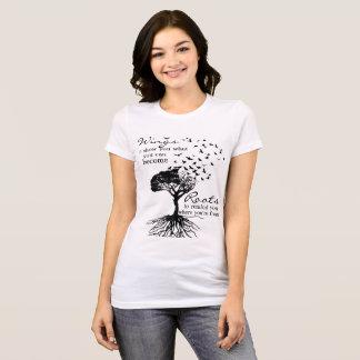 Camiseta Asas & mulheres das raizes superiores