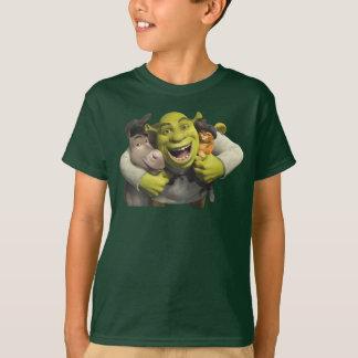 Camiseta Asno, Shrek, e Puss nas botas