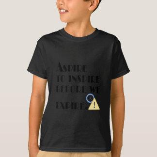 Camiseta Aspire inspirar antes que nós expiremos