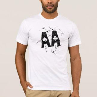 Camiseta Áss rachados (preto)