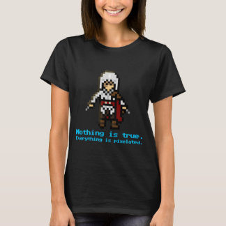 Camiseta assassino de 8 bits
