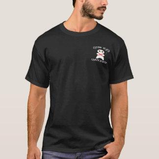 Camiseta Assassino do cancer de Chemo Ninja no branco