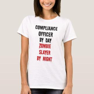 Camiseta Assassino do zombi do oficial da conformidade