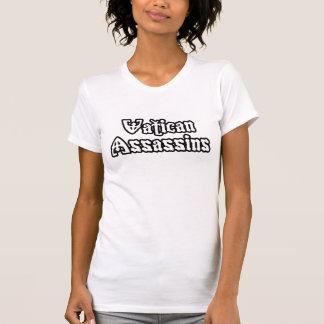 Camiseta assassinos do vaticano do b/w das mulheres