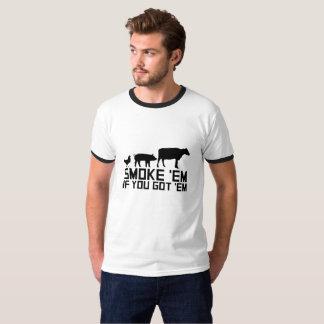 Camiseta Asse o cozimento na grelha do GIF engraçado
