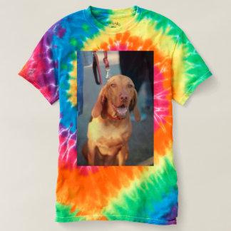Camiseta Assento do cão de cão de Vizsla e feliz